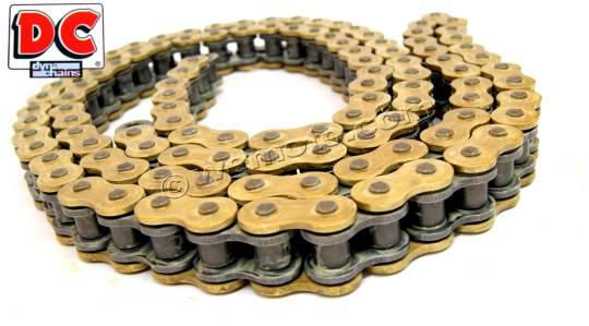 Chain 520x128 DC MZX Super Heavy Duty Gold QX-Ring