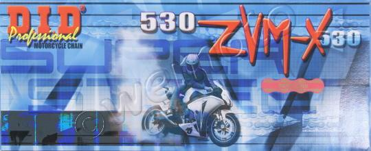 Kawasaki ZRX 1200 S(ZR 1200 B1-B3) 01-04 Chaîne DID ZVM-X - Super Renforcée - X Ring - Or