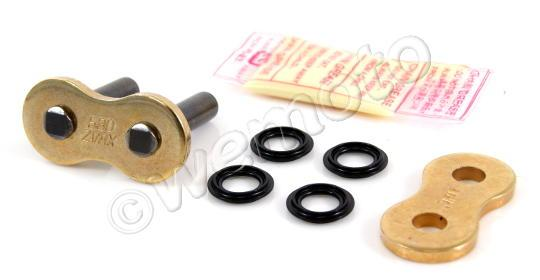 Suzuki GS 400 LX 81 Chain DID ZVM-X Super Heavy Duty X-Ring Premium Gold Rivet Link