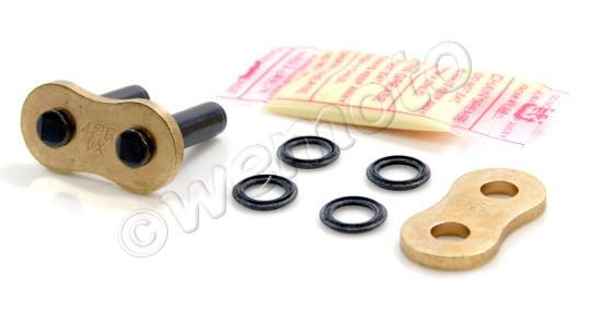 Suzuki DR 125 SMK8 08 Chain DID VX X-Ring Premium Gold & Black Rivet Link
