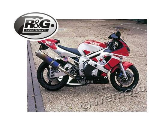 R g racing crash protectors pair classic style for 02 yamaha r6
