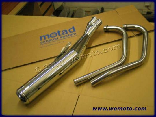 Two in to one system - ease of fitment and great value - pipes and