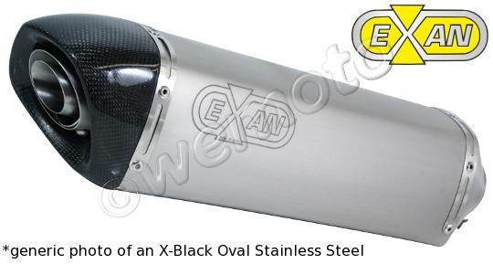 Suzuki GSXR 600 K4/K5 04-05 Oval Carbon Cap Silencer - Stainless Steel