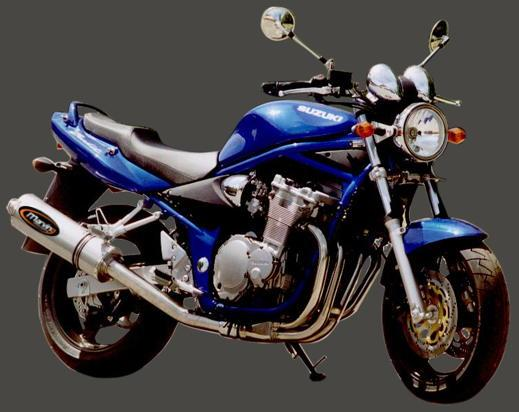 Suzuki GSF 600 Y/K1/K2/K3 Bandit 00-03 Marving SUPERLINE Oval Silencer - Titanium - E-Marked