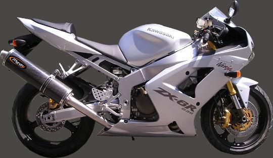 Kawasaki ZX-6R (ZX 636 A1P) 02 Marving SUPERLINE Oval Silencer - Carbon Fibre - E-Marked