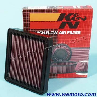 BMW K 100 RS    (Non ABS - 8 valve) 83-88 Air Filter K&N - Performance and Washable