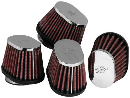 K&N Universal Chrome Filters RC-1824 (Box of 4)