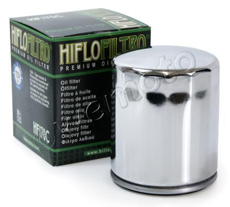 Harley Davidson FXSTS 1340 Springer Softail 92 Olejový filtr HiFlo - chromovaný