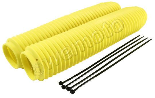 Fork Gaiters Yellow Fluorescent 350mm Long 40mm ID Top 60mm ID Bottom
