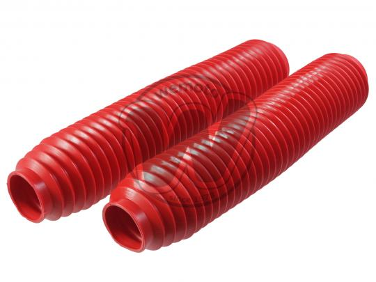 Fork Gaiters 345mm Long - 40mm ID Top - 60mm ID Bottom - Red Extra Large