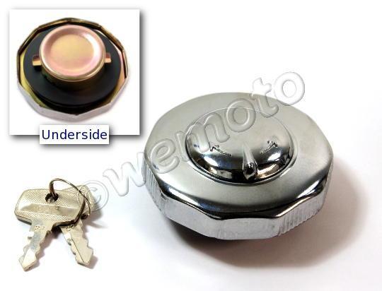 Honda CD 125 T  Benly (6 Volt) 78-79 Fuel Cap with Spare Key