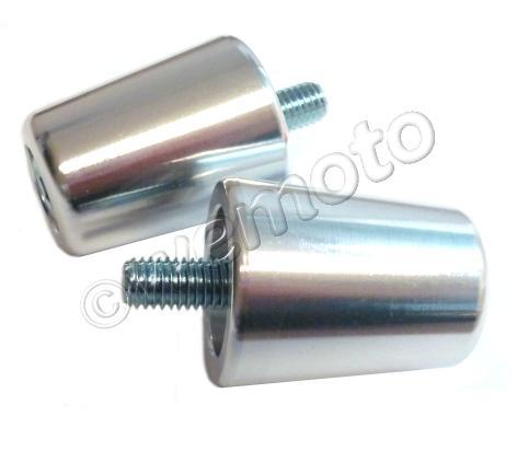 Handlebar End Weight Kyoto Silver Pair Kawasaki ZX 6/7/9/12R Ninja  98-01