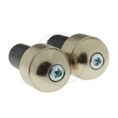Motorcycle Universal Handlebar End Weights - Smooth Style - 17.5 mm - Titanium