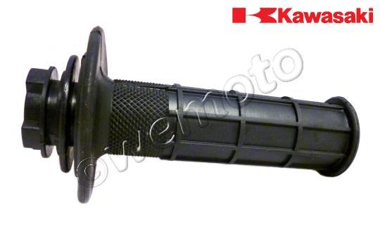 Kawasaki KX 500 D1 88 Handlebar Grip - Right - Throttle Side (Includes Pipe) - OEM