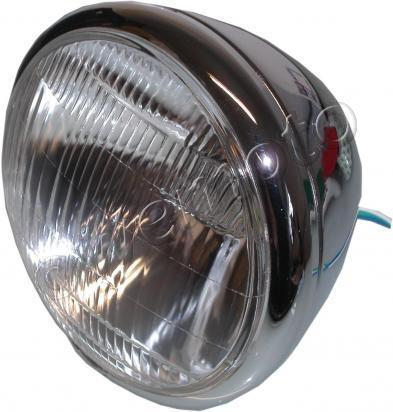 Headlight Bates style Round Chrome Bottom Mount Bates 7 inch