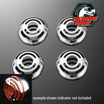 Indicator Chrome Cover Set of 4  Kawasaki