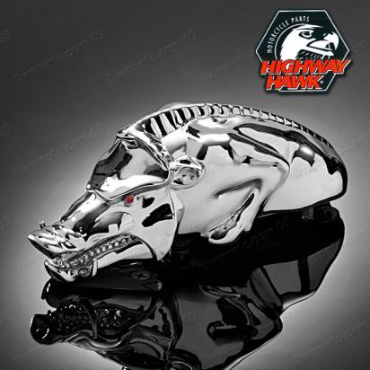 Wild Boar Fender Ornament Chrome by Highway Hawk