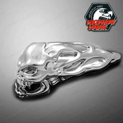 Skull Fender Ornament Chrome by Highway Hawk