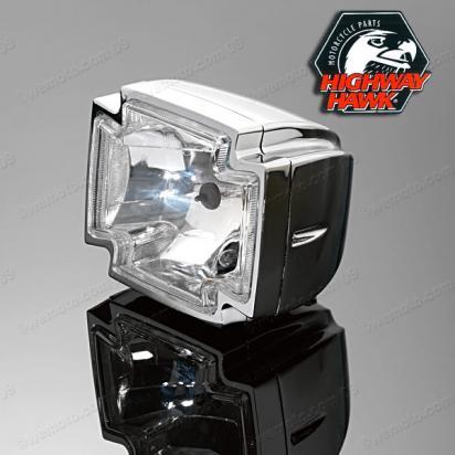 Gothic Chrome Complete Headlight 12v 55w/60w  with Pilot light