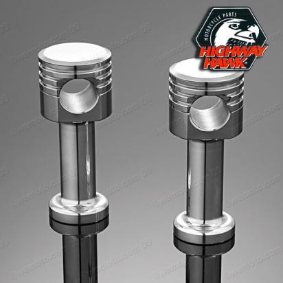 Handlebar Riser Set Piston Style Billet Aluminum for 1 inch handlebars