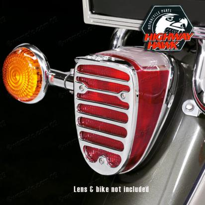 Taillight Grill Cover Custom by Highway Hawk  Yamaha XVS-XVZ