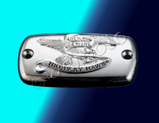 Master Cylinder Cover With Live To Ride Logo - Chrome (451-001)