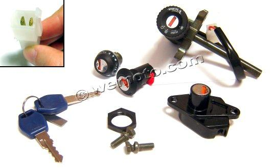 Aprilia Atlantic Sprint 400 (Marzocchi Forks) 04-08 Ignition Switch Plus Lock Set