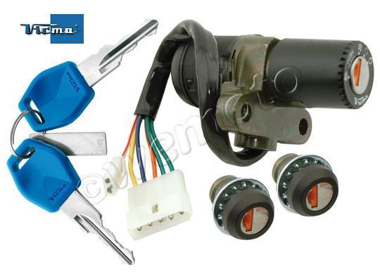 Derbi Senda DRD Pro 50 SM 06-07 Interruptor de encendido más Set Cerradura
