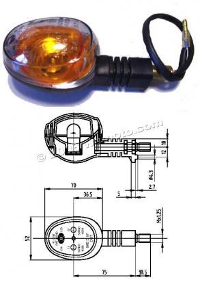 Buell X1 1200 Lightning 99 Intermitente Completo Trasero Izquierdo