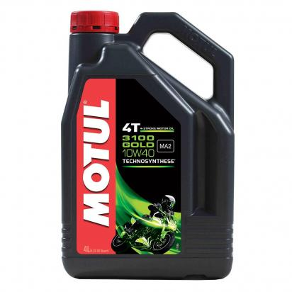 Suzuki LT-F 400 FL0/FL1 King Quad  4WD 10-12 Motul Semi-Synthetic 3100 Gold 4T 10W40 4 Litres