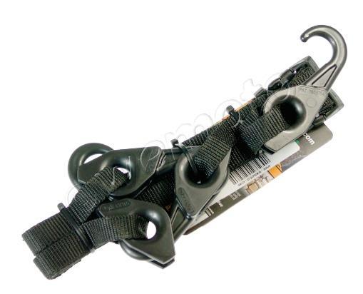 Lynx Hooks Adjustable Luggage Straps Pair Hi-Vis Black