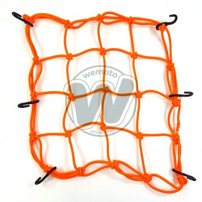 Cargo Net Motorcycle Orange 300x300mm 6 Hooks