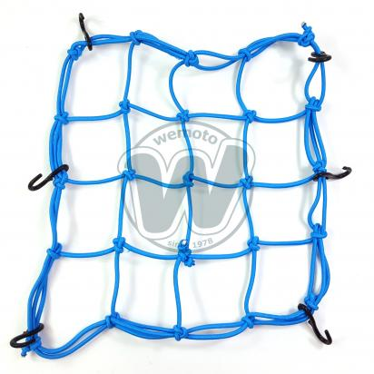 Cargo Net Motorcycle Light Blue 300x300mm 6 Hooks