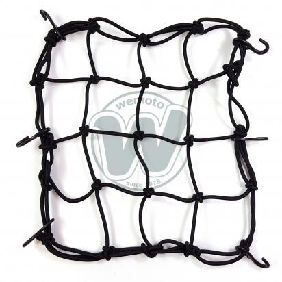 Cargo Net Motorcycle Black 300x300mm 6 Hooks
