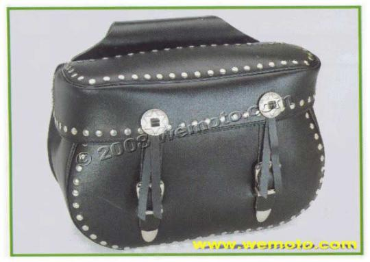 Saddle Bags - Pair Black Leather - Heritage (43x30x19cm)