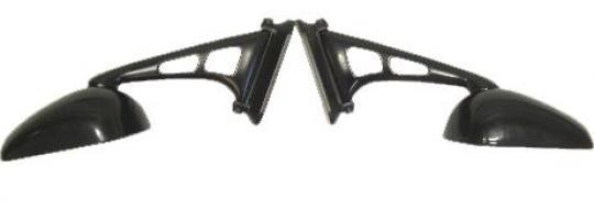 Mirrors Fairing Black Left & Right 30-57mm Adjustable Mount Suzuki, Honda