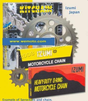 Suzuki GSX 400 X (GK79A) Impulse 99 Chain and Sprocket Kit Izumi.