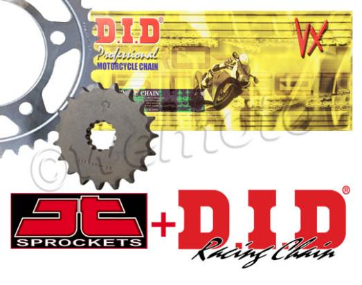 Ducati Hypermotard 1100 S 07-09 DID Chain and JT Sprocket Kit