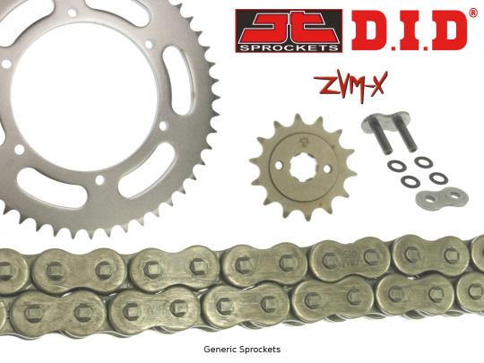 Suzuki RGV 250 T (RGVR 250 SP VJ23A) 96 DID ZVM-X Super Heavy Duty X-Ring Chain and JT Sprocket Kit