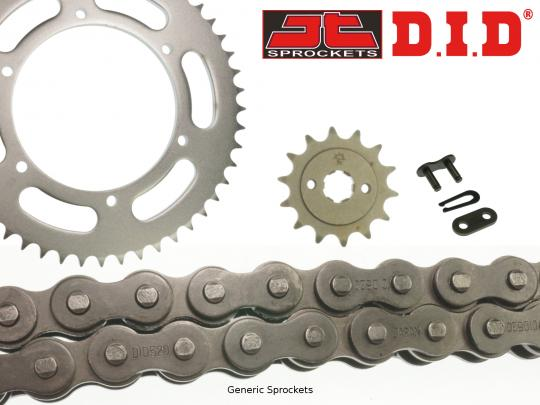 Kawasaki BJ 250 F1/F2 Estrella (250 TR) 02-03 DID Standard Chain and JT Sprocket Kit
