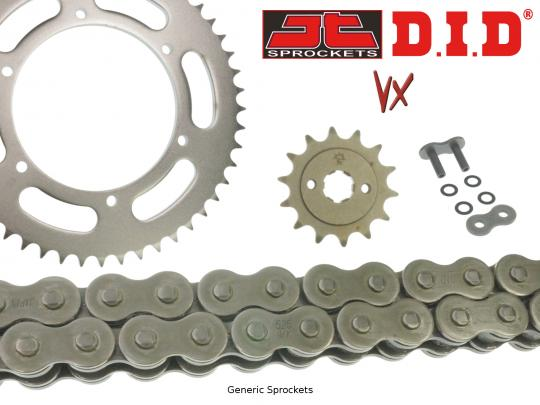 Suzuki SV 650 SK4 04 DID VX Heavy Duty X-Ring Chain and JT Sprocket Kit