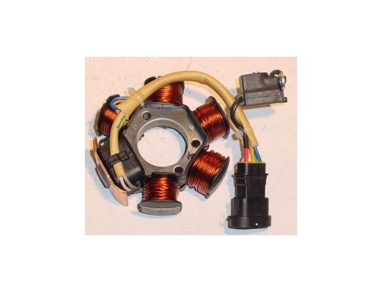 piaggio fly 50 2 stroke 04-07 generator - stator - oem parts at