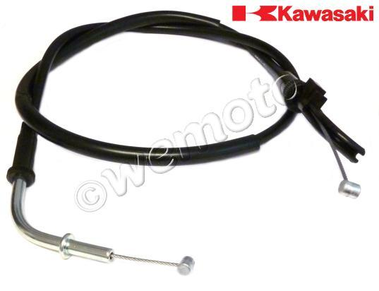 Kawasaki ZZ-R 400 (ZX 400 K1/K2/K3) 90-92 Throttle Cable A (Pull) Genuine Manufacturer Part (OEM)