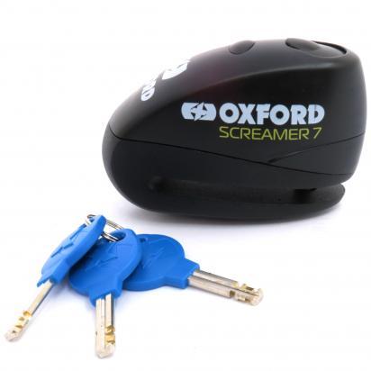 Oxford Lock - Screamer XA7 Alarm Disc Lock - Black