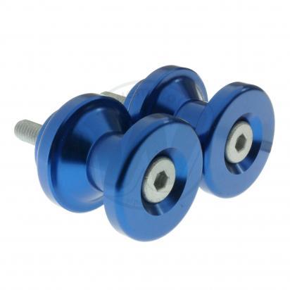 Motorcycle Swingarm Paddock Stand Spools / Bobbins M6 x 1.00 - Blue
