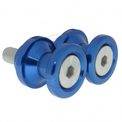 Motorcycle Swingarm Paddock Stand Spools / Bobbins M10 x 1.25 - Blue