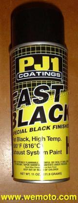peinture pour pot d 39 echappement temp rature elev e pj1 fast a rosol noir. Black Bedroom Furniture Sets. Home Design Ideas