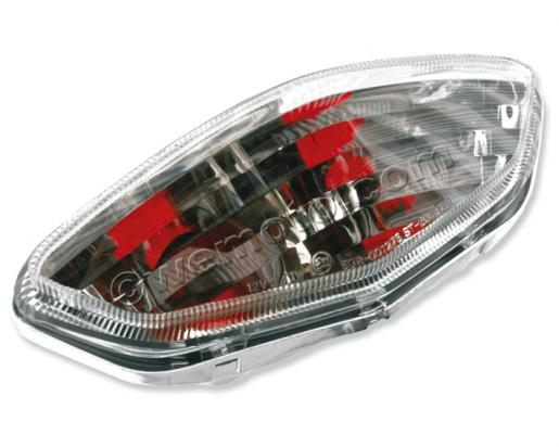 Suzuki DL 650 AK7/AK8 V-Strom ABS 07-08 Taillight White/Clear Lens Unit