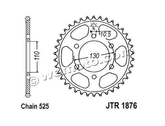 Suzuki GSXR 750 L1 11 Sprocket Rear Less 1 Tooth - JT (Check Chain Length)