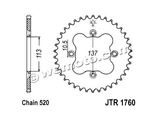 Suzuki LT-R 450 K8/K9 Quadracer 08-09 Sprocket Rear Less 1 Tooth - JT (Check Chain Length)